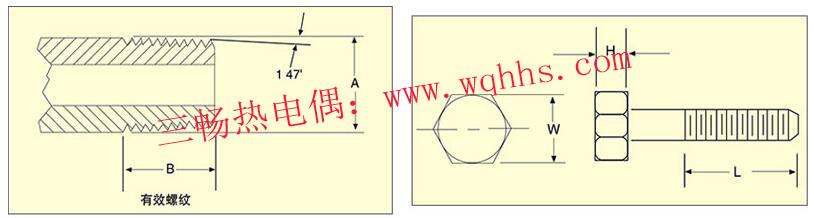 热电偶的标准锥管螺纹螺纹和直螺纹尺寸图文说明