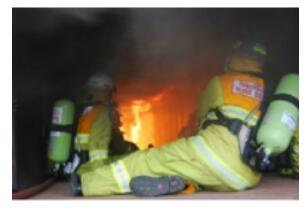 农村消防局使用铂铑热电偶进行火灾温度测量