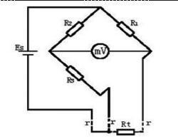 热电阻接线原理图