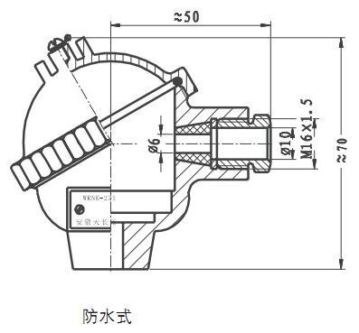 WRNK-231铠装热电偶结构图